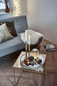 winterliches dekotablett in creme und gold für dein