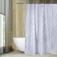 duschvorhang rautenmuster wannenvorhang bad vorhang 180 x 200 cm duschabtrennung wasserdicht dusche vorhang 2 mit ringe