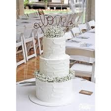 Rustic LOVE Wedding Cake Topper Banner