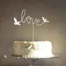 Love Bird Wedding Cake Topper Innovation Design 10 Wire By WoodenHeartButtons