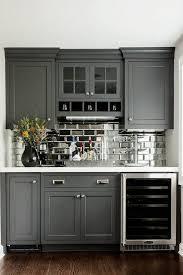 kitchen backsplash gray glass subway tile light grey floor tiles