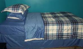Walmart Bed In A Bag by Mainstays Blue Plaid Bed In A Bag Bedding Set Walmart Com