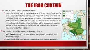 Winston Churchill Delivers Iron Curtain Speech Definition by The Cold War