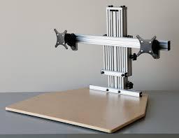 Kangaroo Standing Desk Dual Monitor by Kangaroo Elite Standing Desk For Two Monitors Height Adjustable