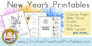 Free New Years Printables Coloring Pages File Folder Games