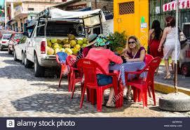 100 Snack Truck Sidewalk Snack In Bucerias Mexico Beside The Coconut Truck Stock