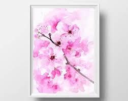 Cherry Blossom Bathroom Decor by Cherry Blossom Decor Etsy
