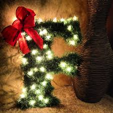 Hobby Lobby Pre Lit Led Christmas Trees by Hobby Lobby Letter Wrapped In Christmas Garland W Lights So Cute