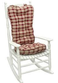 Greendale Home Fashions Applegate Plaid Jumbo Rocking Chair Cushion