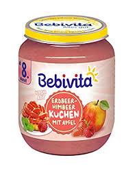 bebivita dessert nach erdbeer himbeer kuchen mit apfel 6er pack 6 x 160 g