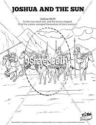 Joshua 10 Sun Stand Still Sunday School Coloring Pages