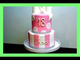 geburtstags fondanttorte in rosa weiss 2 etagen torte 18 geburtstagtorte kuchenfee