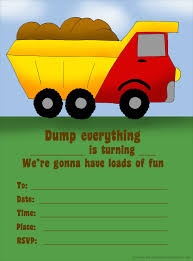 14 Printable Birthday Invitations: Many Fun Themes Dump Trucks For Sale In Des Moines Iowa Together With Truck Party Garbage Truck Made Out Of Cboard At My Sons Picture Perfect Co The Great Garbage Cake Pan Cstruction Theme Birthday Ideas We Trash Crazy Wonderful Love Lovers Evywhere Favor A Made With Recycled Invitations Mold Invitation Card And Street Sweepers Trash Birthday Party Supplies Other Decorations Included Juneberry Lane Bash Partygross