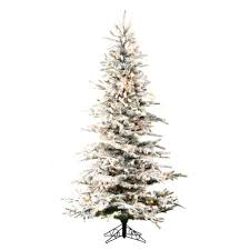 Snow Flocked Slim Christmas Tree by Vail Flocked Slim Pre Lit Christmas Tree Christmas Store