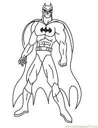 Superhero 21 Coloring Page