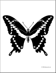Clip Art Butterfly Giant Swallowtail Coloring Page I Abcteach