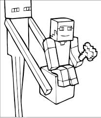 Minecraft Coloring Pages Steve And Alex