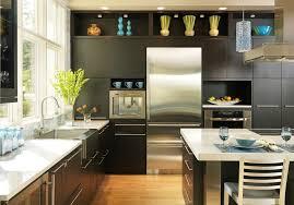 Impressive Espresso Kitchen Cabinets With Stainless Steel Sink Dark Wood