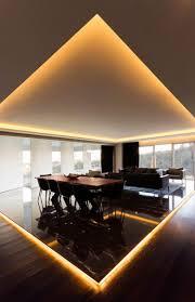 indirekte deckenbeleuchtung mit einbauspots apartment in