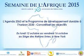 agenda sur bureau la semaine de l afrique 2015 dans le cadre du 70ème anniversaire