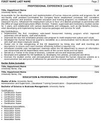 Human Resource Director Resume Sample Template Page 2