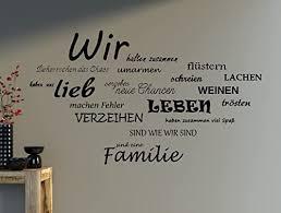 wandtattoo spruch wir familie wandaufkleber wohnzimmer sprüche 100x63cm b388 braun
