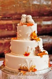 Such A Cute Idea For Fall Wedding Cake Using Owls As Topper