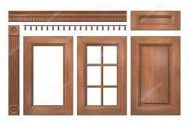 corniche cuisine collection avant des portes de bois isolés tiroir colonne