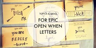 Open When Letter Topics & Ideas with Examples