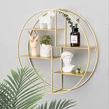 eivd wandregale runde metall wohnzimmer schwimm regale multifunktionale dekorative partition bar kreative wanddekoration lagerregal schlafzimmer