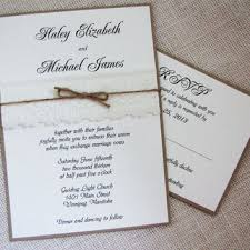 Shabby Chic Lace And Burlap Twine Country Rustic Wedding Invitation