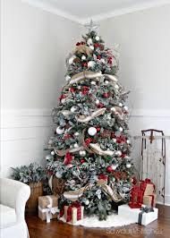 tree decorations ideas with ribbons 30 dreamy flocked tree decoration ideas