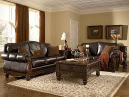 Rustic Living Room Wall Ideas by Modern Rustic Living Room Round Rug Brown Leather Sofa Glass Wall