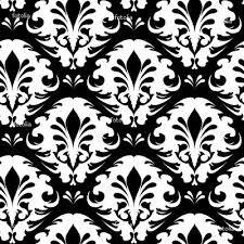 Illustration Of A Black And White Vintage Floral Pattern