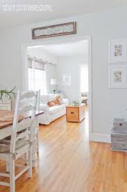Benjamin Moore Grey Owl At Half Tint Strength CozyCottageCute New Living Room Dining Paint Colour