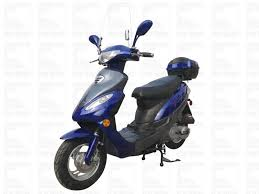 Gas Scooter Yongfu 50 Single Cylinder 4 Stroke Air Cooled Fully Automatic 10 Aluminum Wheel Front Disc Rear Drum Brake Free Windshield Trunk