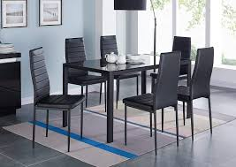 Amazon.com - IDS Online 7 Pieces Modern Glass Dining Table Set Faxu ... Amazoncom Ashley Fniture Signature Design Mallenton East West Avat7blkw 7piece Ding Table Set Hanover Monaco 7 Pc Two Swivel Chairs Four Garden Oasis Harrison Pc Textured Glasstop Small Kitchen And Strikingly Ideas Costway Patio Piece Steel Belham Living Bella All Weather Wicker Athens Reviews Joss Main 7pc Outdoor I Buy Now Free Shipping Winchester And Slatback Ruby Kidkraft Heart Kids Chair Wayfair