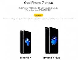 Sprint also offers Free iPhone 7 with trade in AT&T too