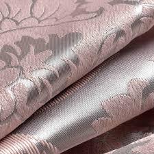 lucxus vorhang pink silber blumen jacquard im wohnzimmer