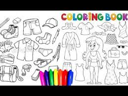 Coloring Pages Of Beautiful Summer Dresses And Boys Clothes Back To School For Children