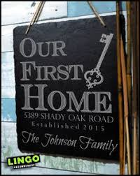 Our First Home Sign Unique Couples New House Gift Housewarming Wedding For Couple Personalized Name Wood Plaque Wall Art