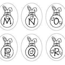 Bunny Letters MNOPQR Of Alphabet M N O P Q R Coloring Page