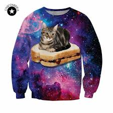 cat hoodies aliexpress buy new harajuku style galaxy space cat
