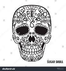 Easy Sugar Skull Day Of by Day Dead Sugar Skull Vector Mexican Stock Vector 481782115