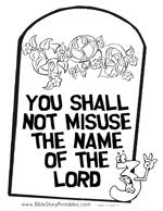 This Is A Bible Coloring Page Of The First Commandment With Picture One Way Sign Pointing To God Teach Children That There Only True