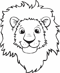 Printable Lion Head Coloring Pages