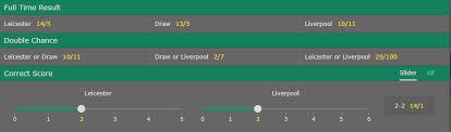 Tile Bong Da Ngoai Hang Anh by Tỷ Lệ Kèo Bóng đá Trận Leicester City Vs Liverpool Ngày 23 9 Nha