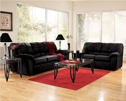 contemporary ideas red and black living room set stylish design