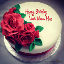 Write name on Best Roses Birthday Cake For Lover Happy Birthday Wishes