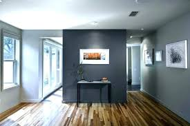 Light Grey Walls Dining Room With Wood Floors White Trim Dark